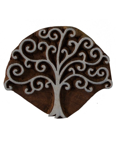 Textile Printing Handmade Tree Wooden Block