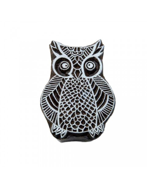 Exotic Owl Handmade Wooden Textile Printing Block