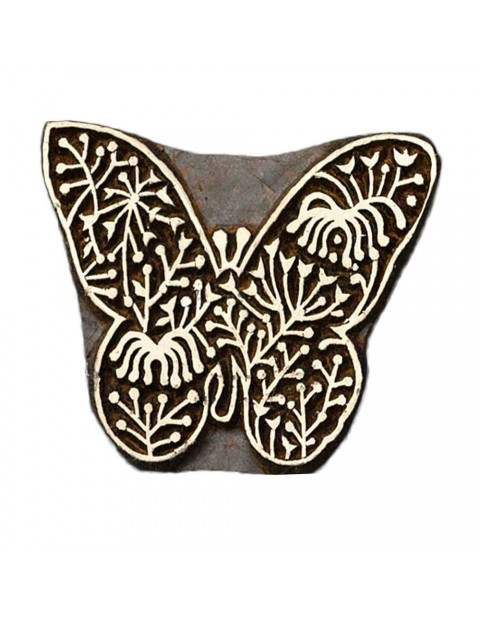 Handcarved Block Butterfly Textile Printing Scrapbook Block