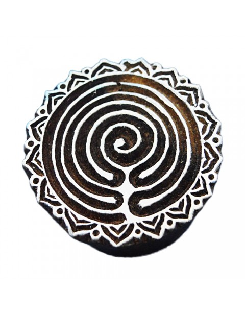 Circular Textile Geometric Block Craft Tattoo Handcarved Stamps