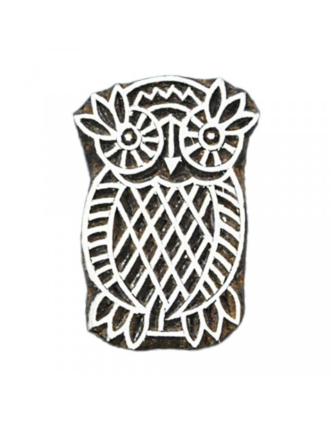 Owl Wooden Textile Printing Block Stamps