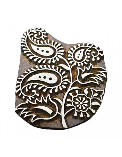 Floral Wooden Printing Block Tattoo