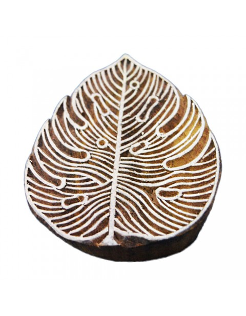 Leaf Pattern Printing Stamp Clay Potter Textile Block