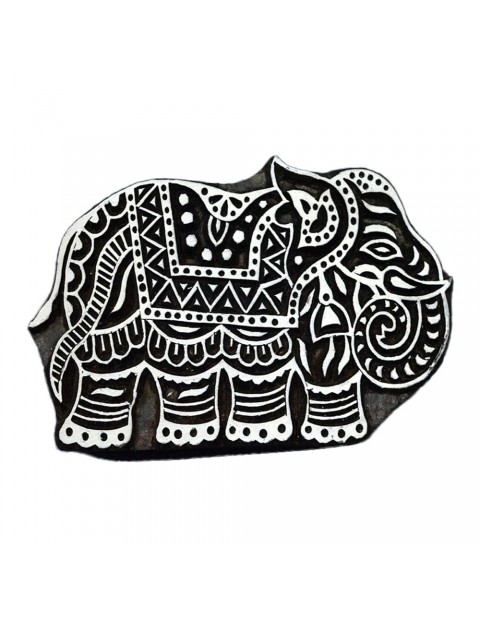 Handcrafted Elephant Wooden Printing Textile Block Stamps