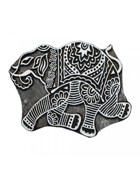 Printing Scrapbook Stamps Elephant Textile Block