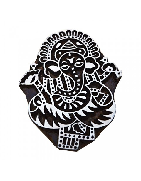 Handcarved Printing Stamps Lord Ganesha Design Tattoo