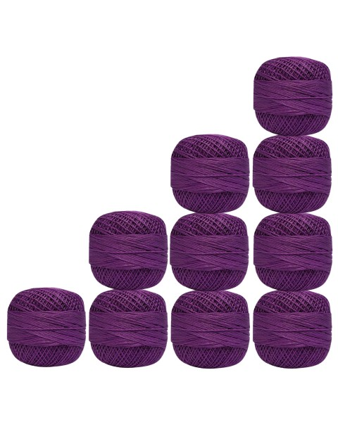 10 Pcs Cotton Crochet Thread Knitting Violet Mercerized Embroidery Yarn Tatting Doilies Craft