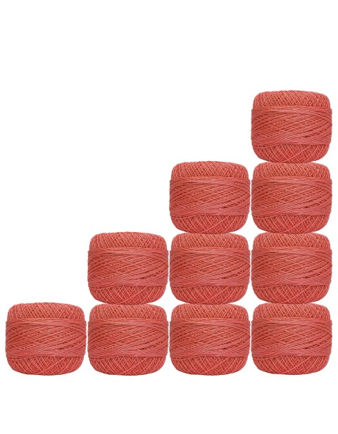 10 Pcs Cotton Knitting Rosy Pink Crochet Thread Mercerized Embroidery Yarn Tatting Doilies Craft