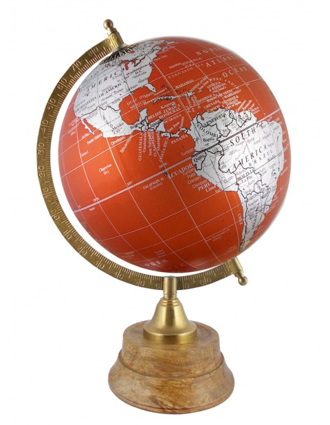 Geography 8 Inches Diameter Metallic Purple World Globe Table Top Earth