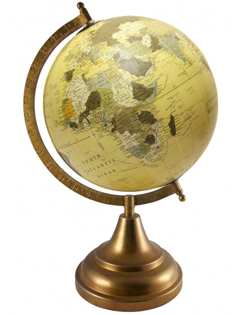 Educational World Map Beige Earth 8 Inches Diameter Geography Globe