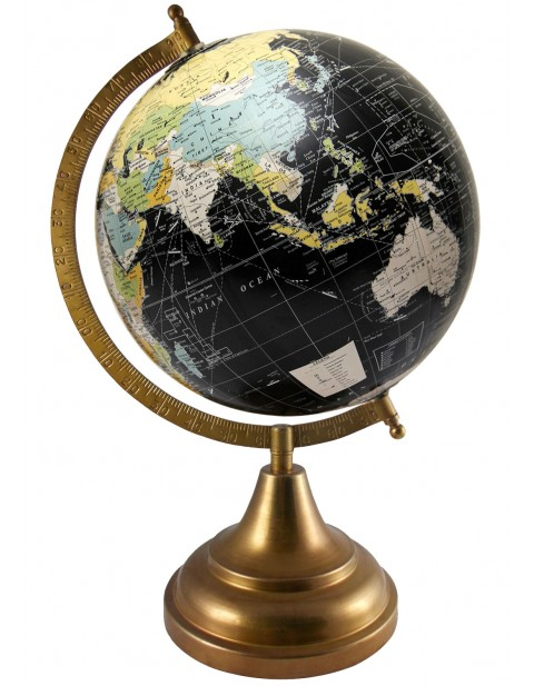 Black Tabletop 8 Inches Diameter Educational Globe Rotating Geography