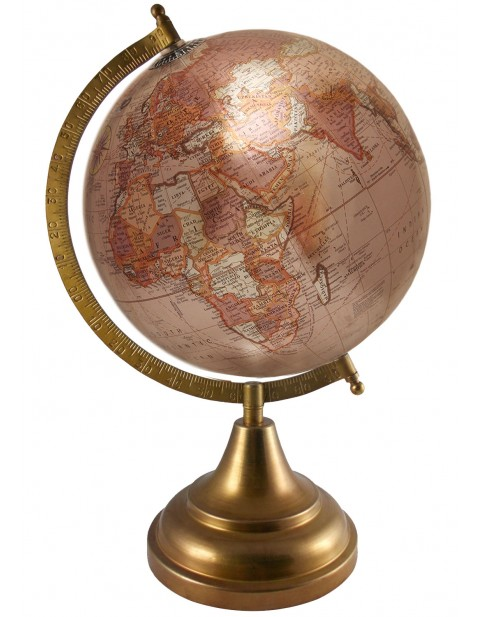 8 Inches Diameter Globe Map Geography Tabletop Metallic Bronze