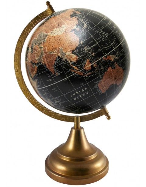 Black Rotating Earth 8 Inches Diameter Educational Desktop World Office Decor