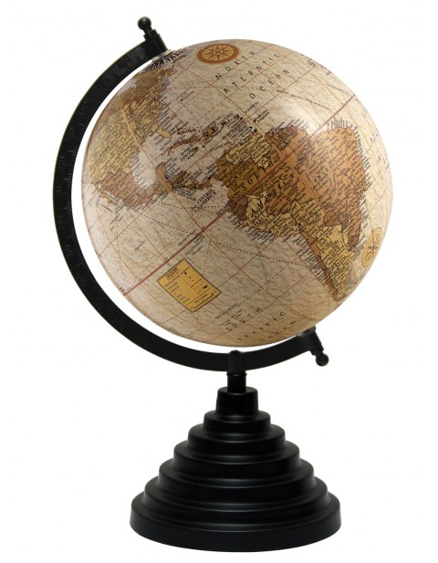 Beige World 8 Inches Diameter Geography Desktop Map Earth