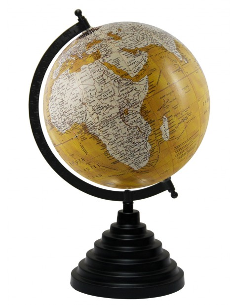 World Map Yellow Educational Table Top Earth 8 Inches Diameter