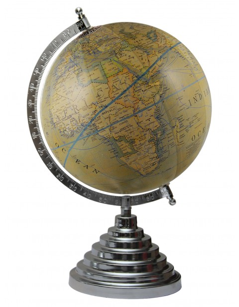 Olive Green World Map Educational Table Top Earth 8 Inches Diameter