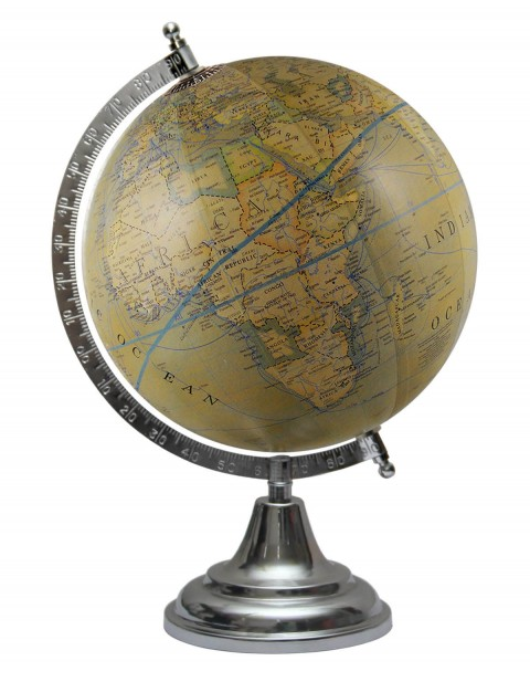 Olive Green World Map Geography Table Top Earth 8 Inches Diameter