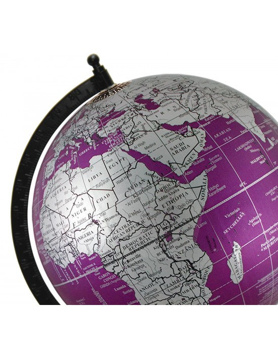 Metallic purple world map geography table top earth 8 inches diameter gumiabroncs Gallery