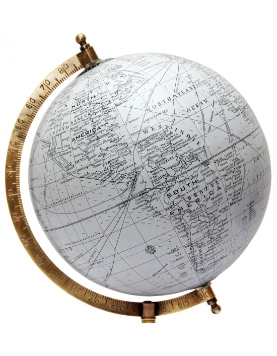 ROTATING WORLD MAP GLOBES TABLE DECOR OCEAN GEOGRAPHICAL EARTH DESKTOP 8238