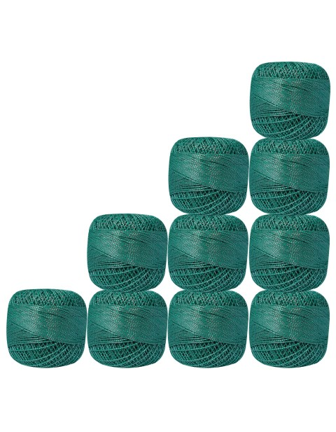 Bunch of 10 Pcs Silver Metallic Turquoise Cotton Crochet Thread Knitting Yarn Doilies Craft