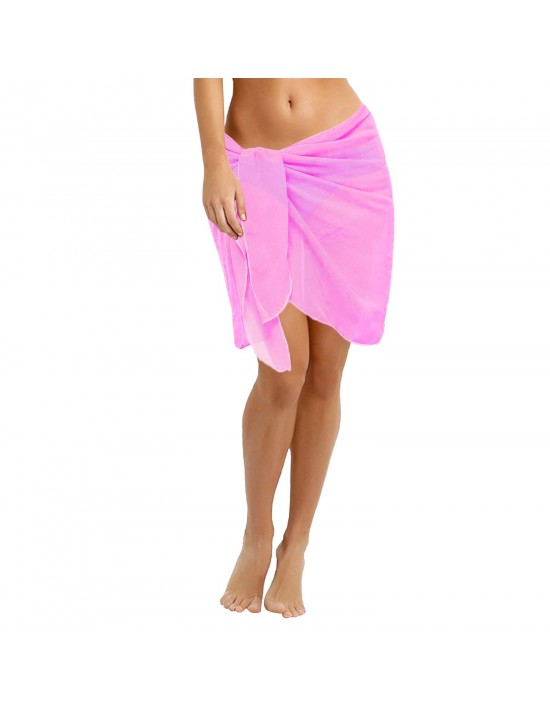 88d5897f2fcc6 Solid Sarong Pink Plain Beach cover up Swim Scarf, Shawl, Beach wrap,  Fashion