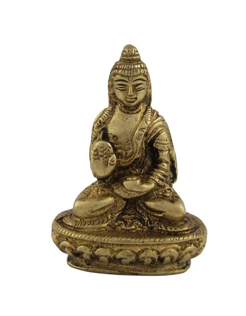 Lord Buddha Brass Statue Handmade Indian Religious Gift