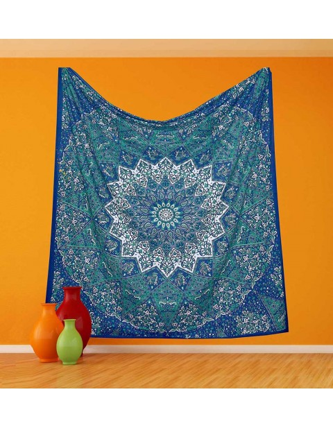 Indian Wall Hanging Kaleidoscopic Star Tapestry
