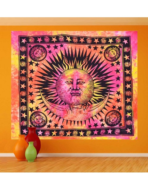Sun and Moon Table Cover Tapestry
