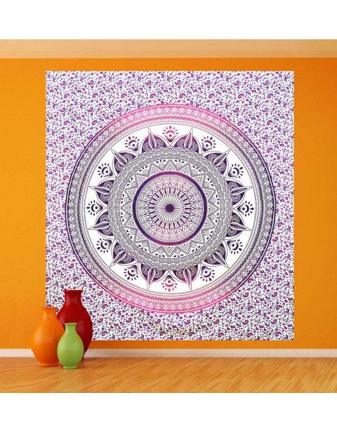 Pink Ombre Mandala Hippie Tapestry