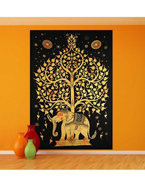 Multi-Purpose Tree of Life Wall Hanging Elephant Tapestry