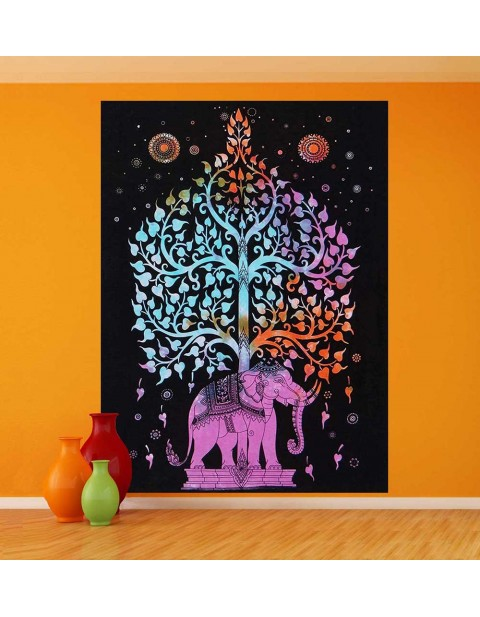 Wall Hanging Indian Home Decor Tree of Life Tapestry