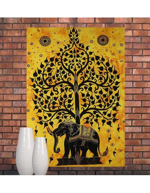 Multi-Purpose Indian Wall Home Decor Tree of Life Tapestry